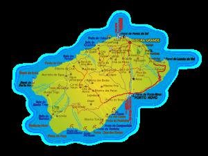 Mapa Ilha Santo Antão | Cabo Verde
